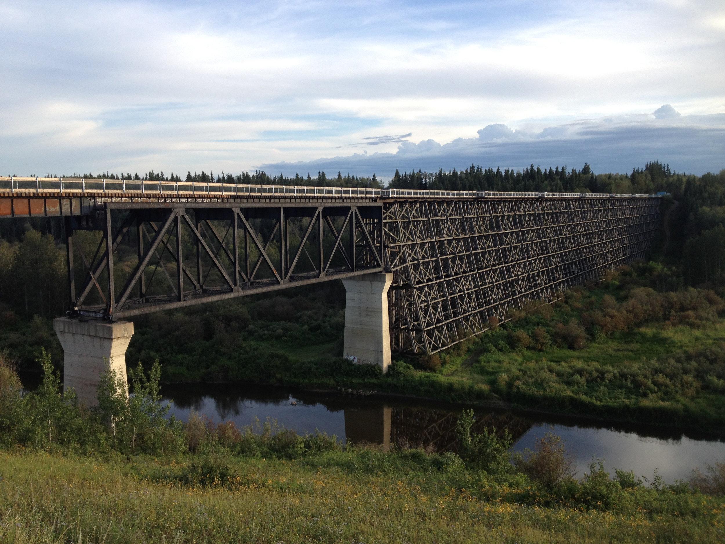 Train Trestle Bridge crossing over Beaver River