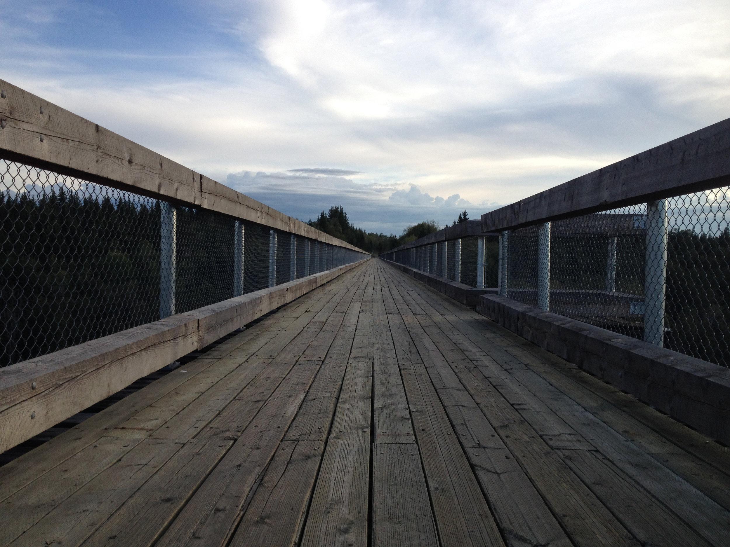 The bridge deck is 2-3m wide