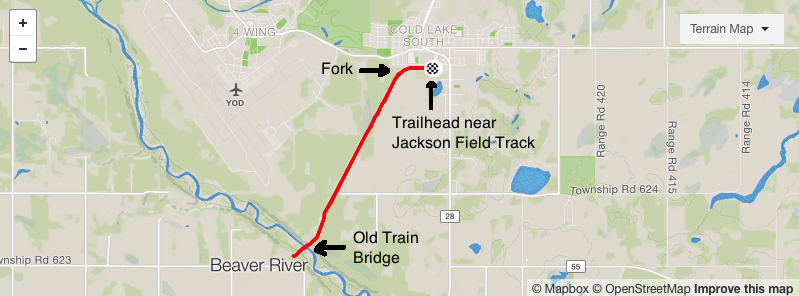 Map of Iron Horse Trail