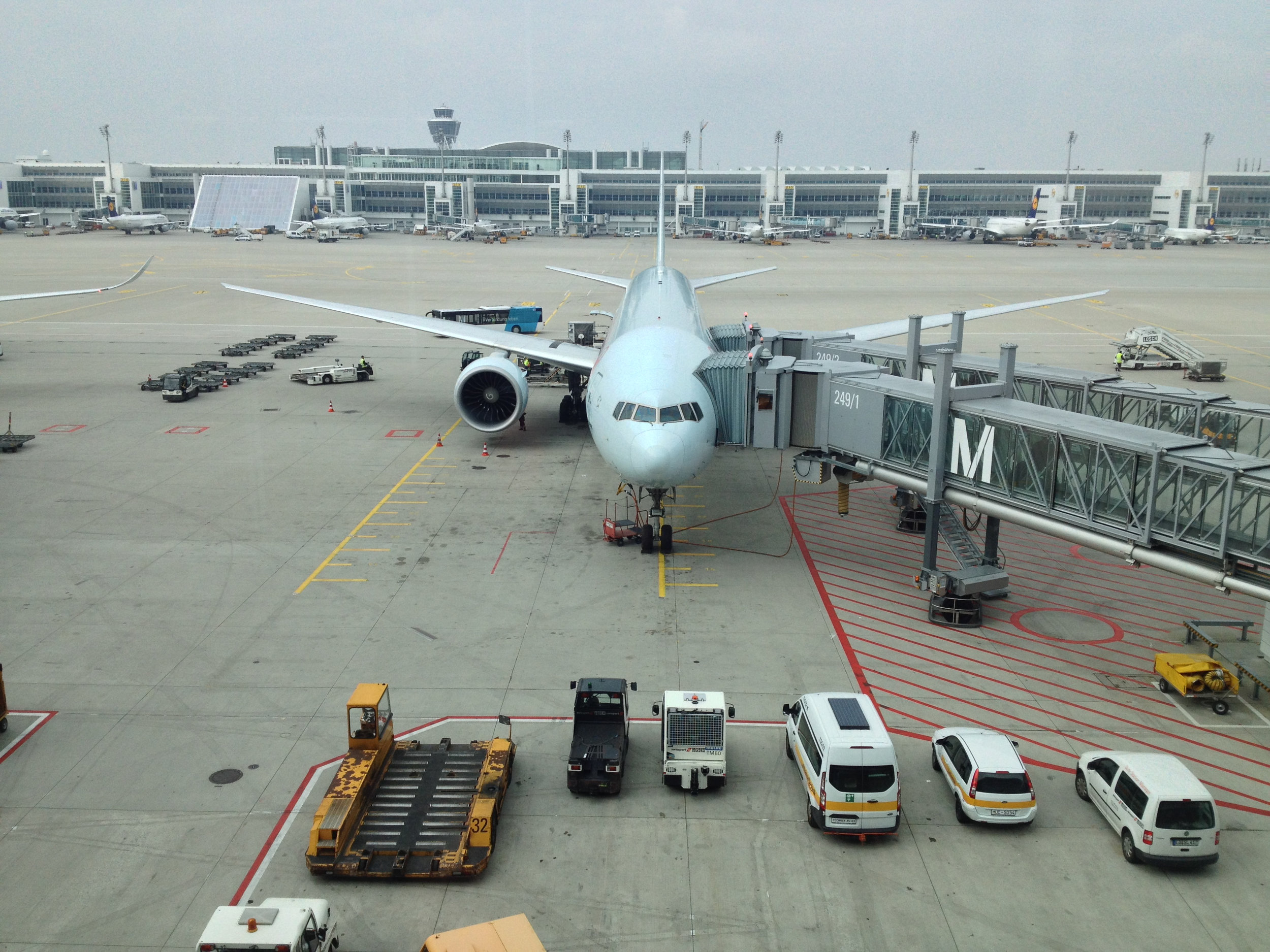 Boeing 777-300ER aircraft that we took from Toronto to Munich