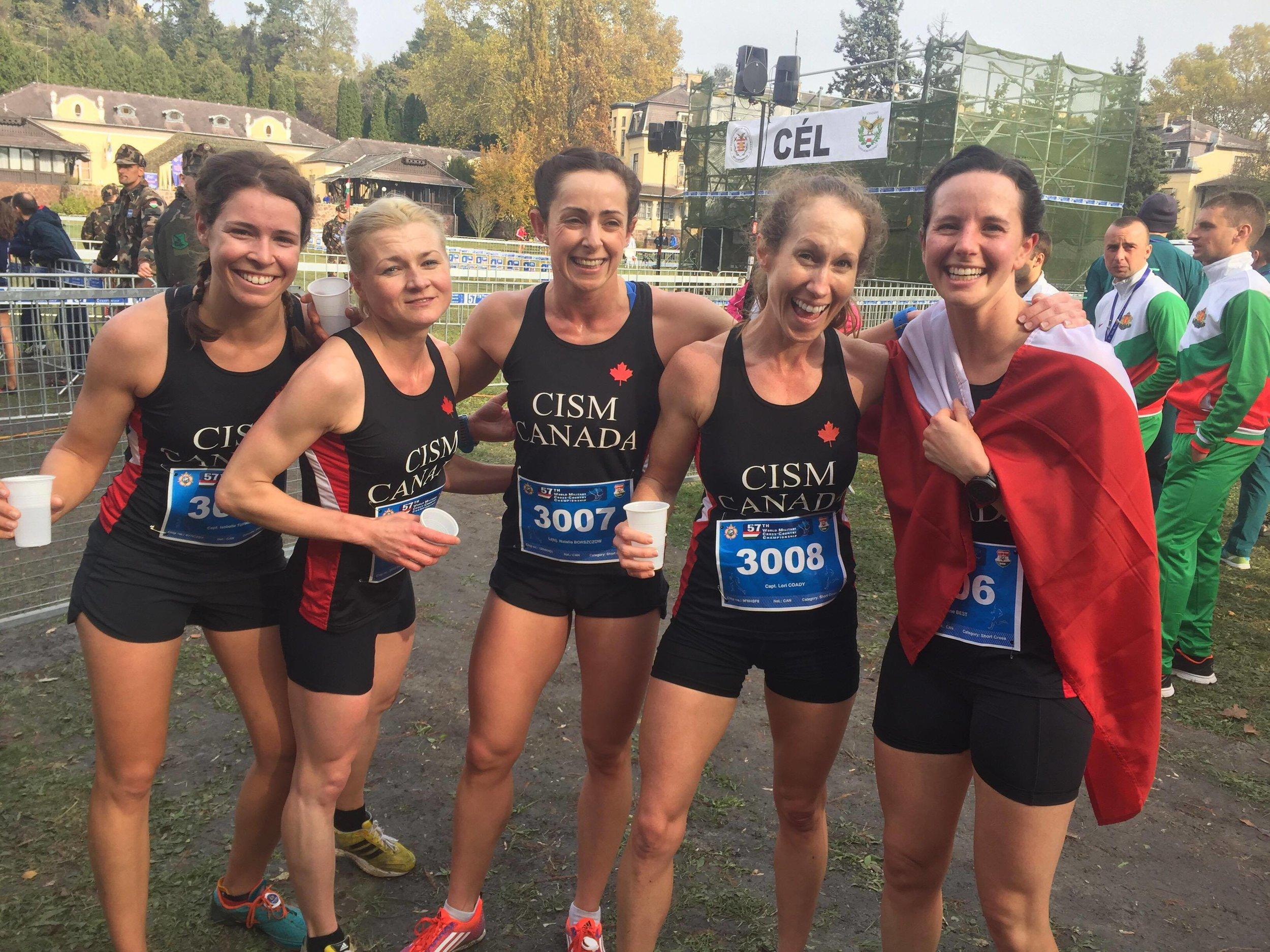 Short Course Female Team, L to R: Isabelle, Maria, Natalia, Lori and CJ.