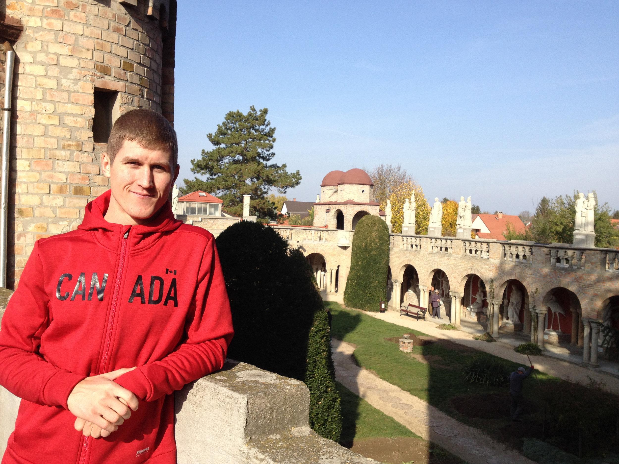Matt at castle.JPG