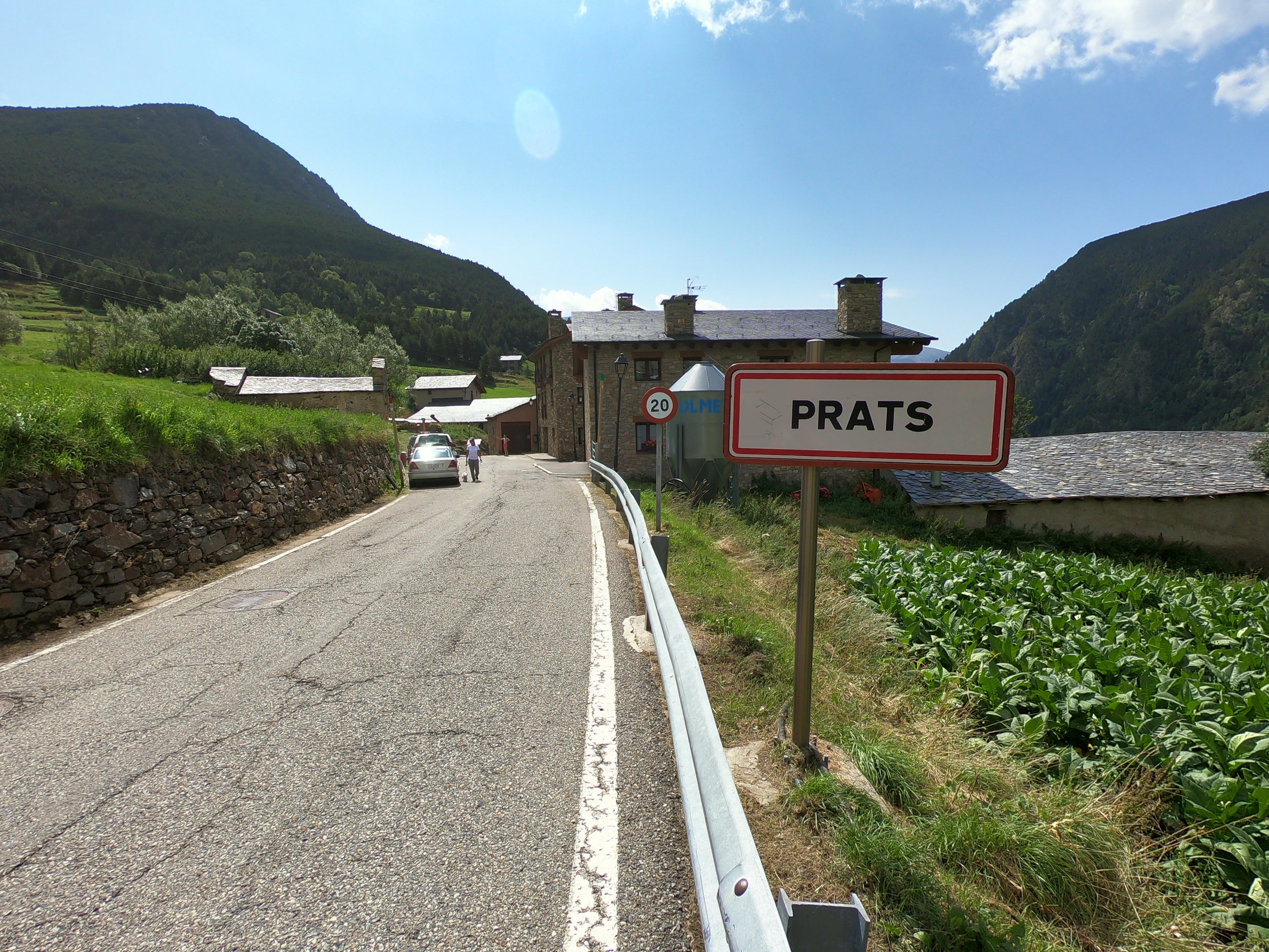 The race goes through the village of Prats. I'm pretty sure there will not be cars parked on the side of the road on race day.