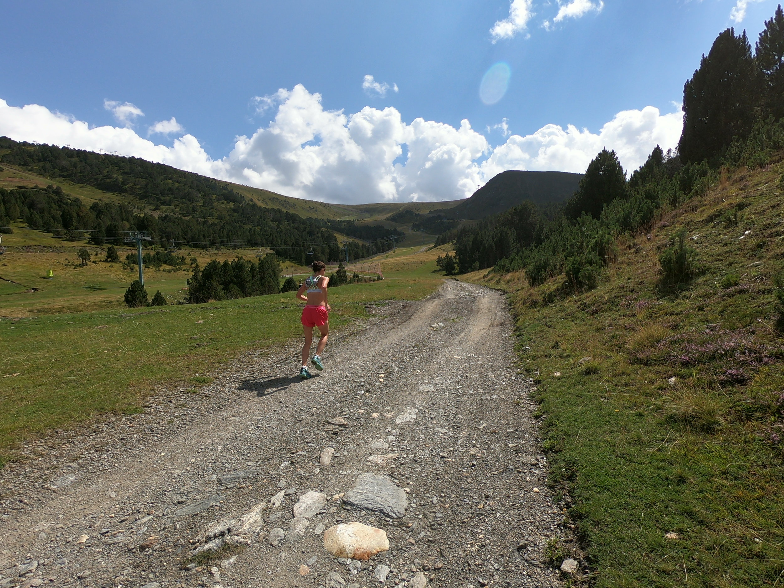 The gravel road. This is at a different ski resort to the ski resort we ran past at about halfway into the race.