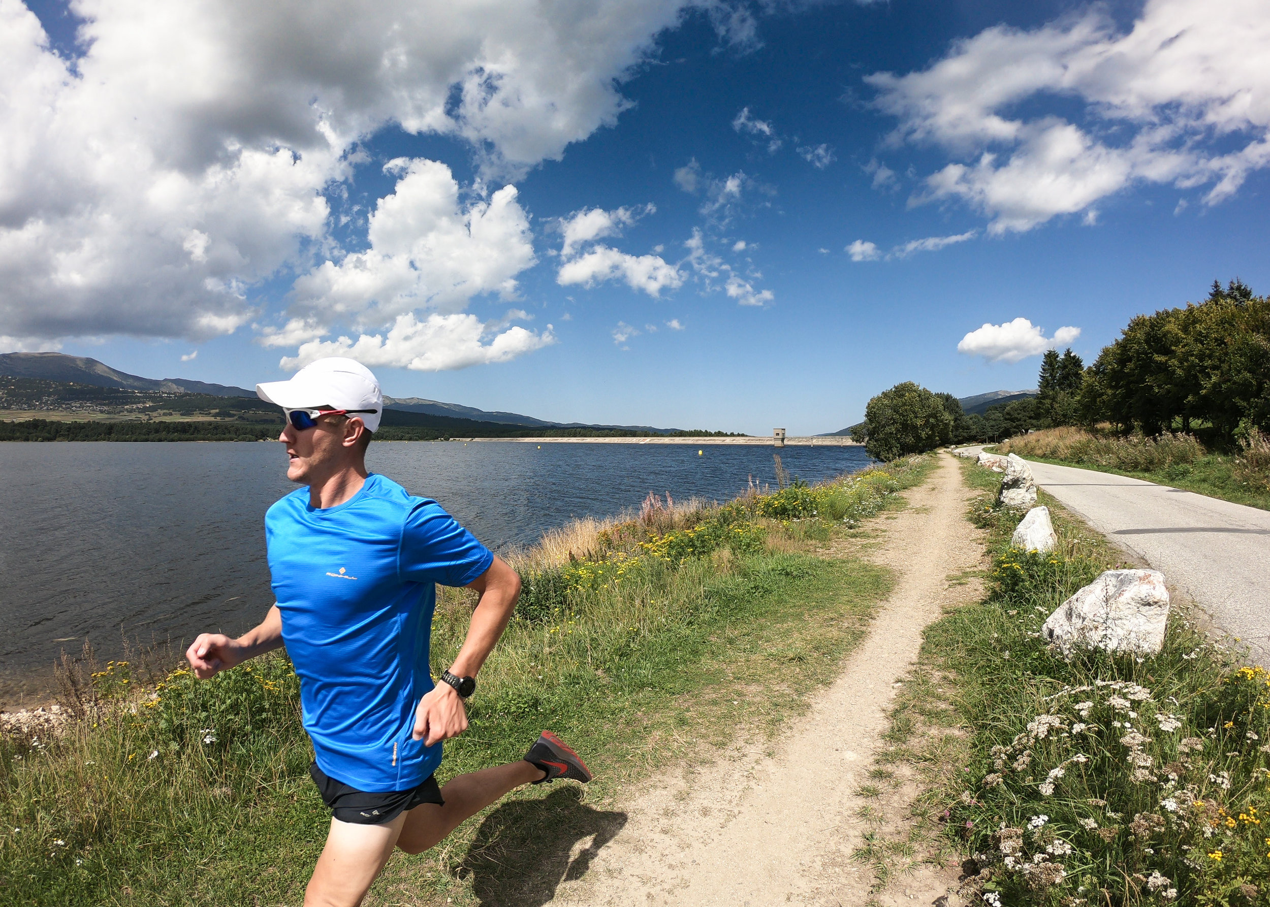Matt running around Lac de Matemale.jpg