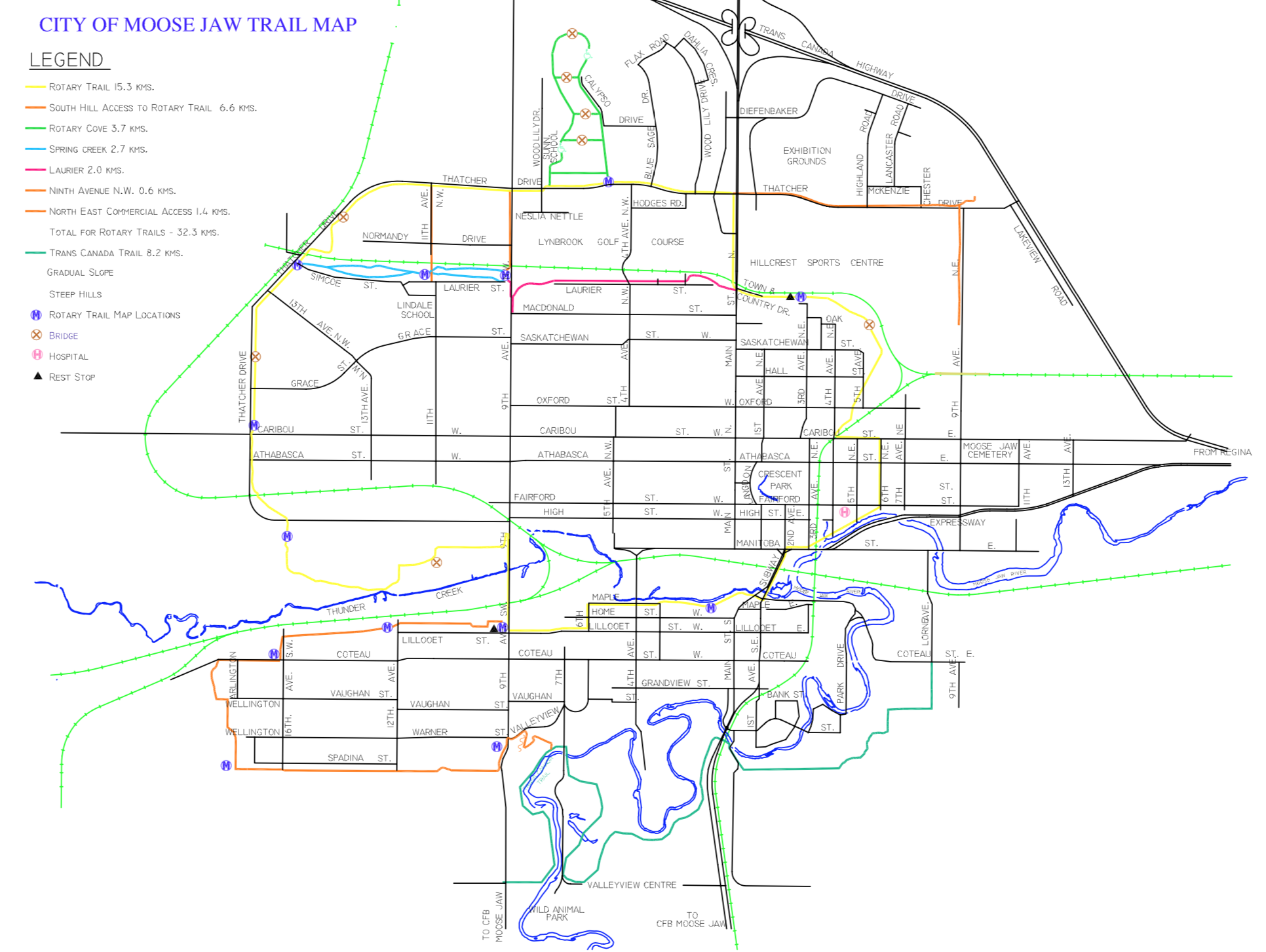 Map of Moose Jaw Trails.png