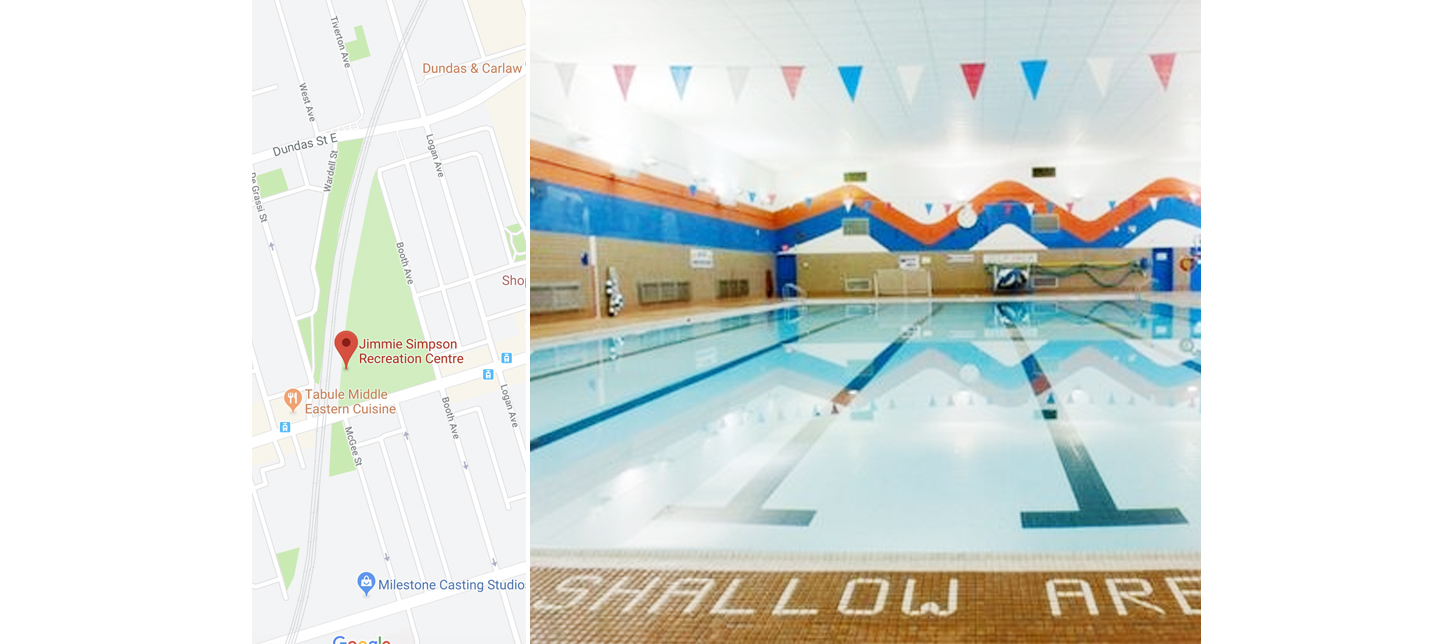 Leslieville fitness jimmie simpson recreation centre pool.jpg