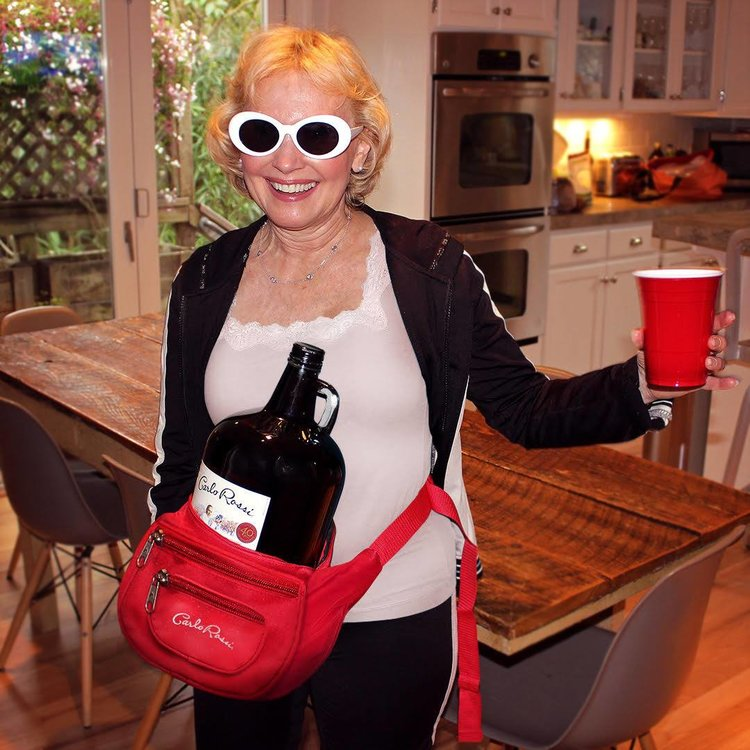 Keep your wine within reaching distance at all times with the Carlo Rossi    #GrannyPack
