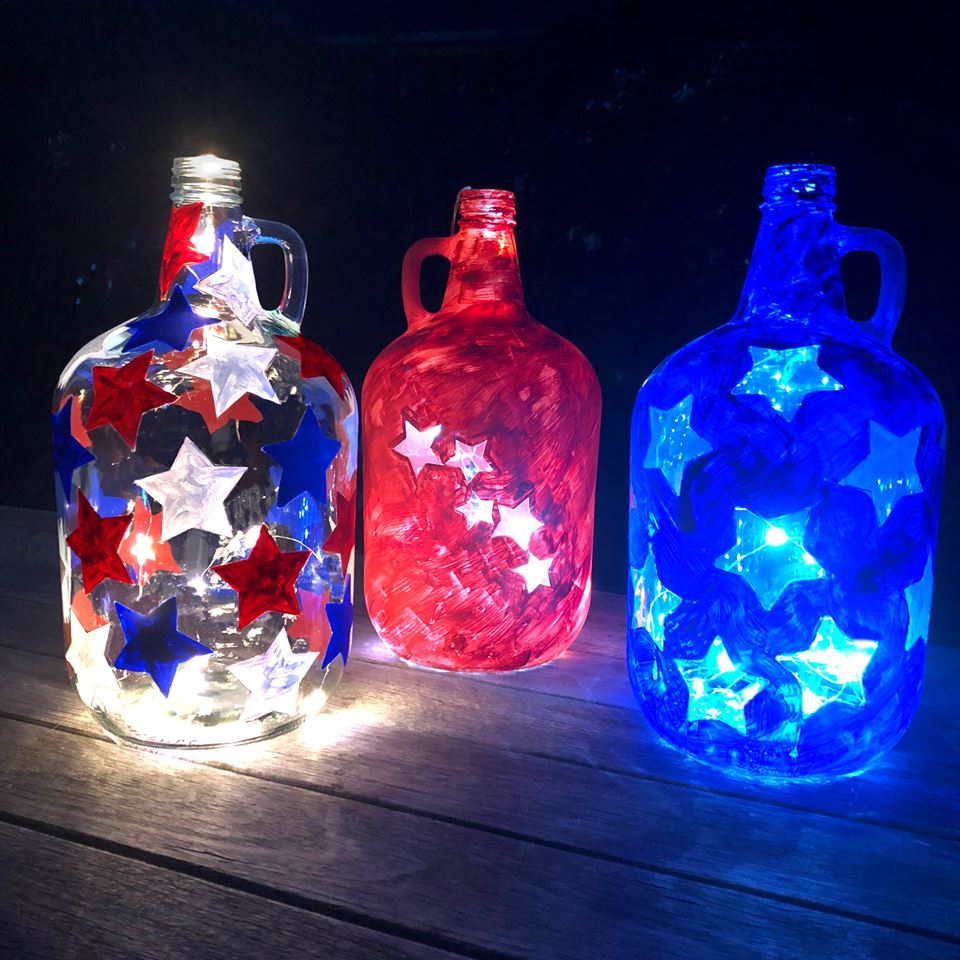 Spark up your night with a jug full of light. Fill up your Rossi jug with a starry sky this 4th of July.    #TwinkleJug