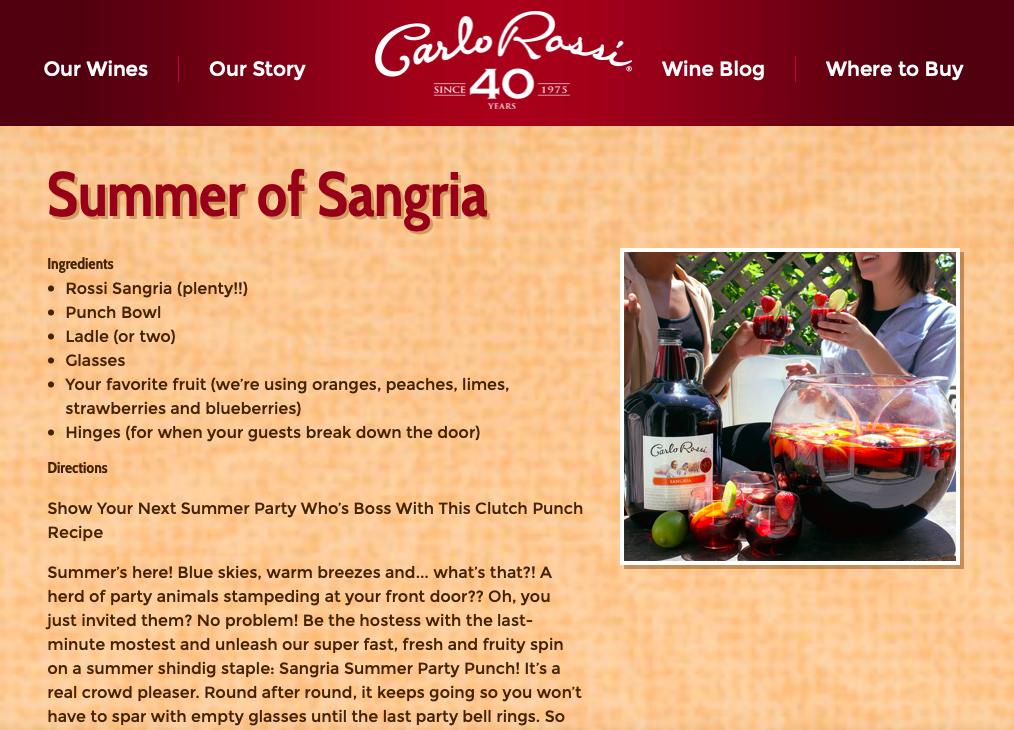 Carlo Rossi Wine Blog