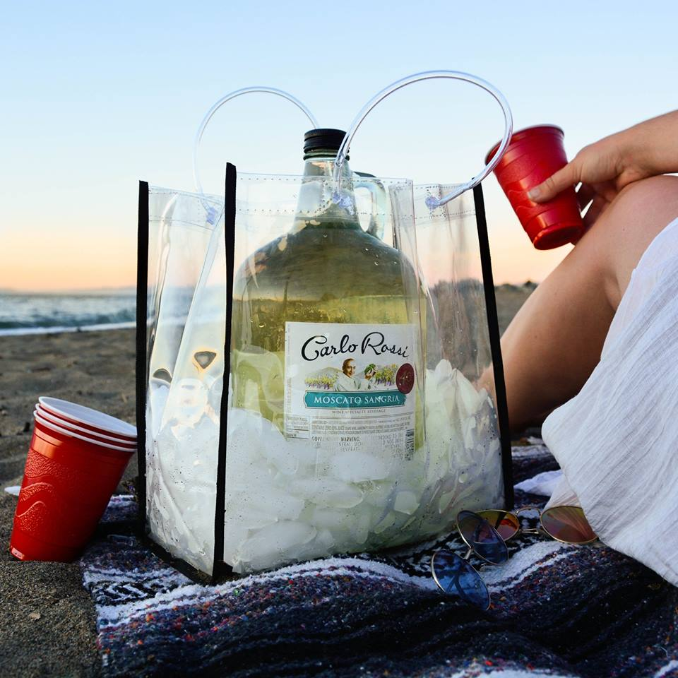 What's cooler than a beach sunset? Our jug plastic cooler is ready for ya.    #RossiSangria