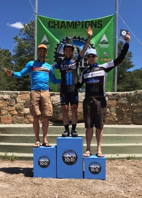 On the podium in Colorado