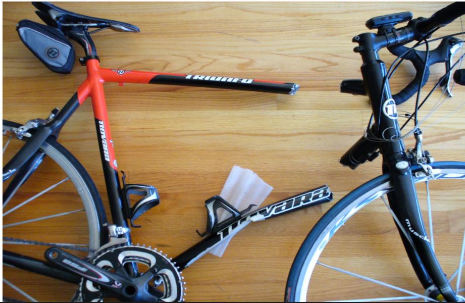 The broken bike