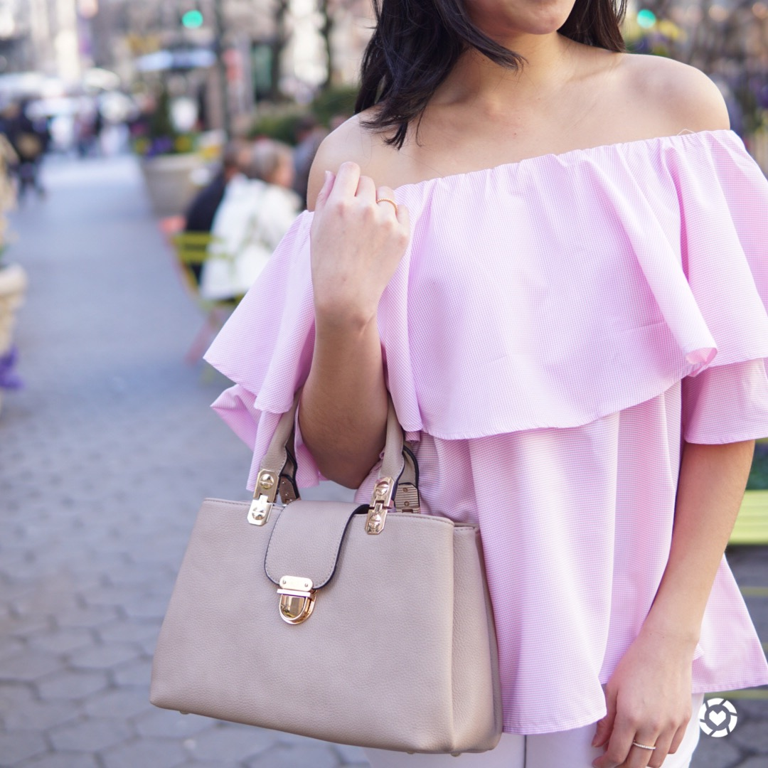 Top:  SheIn  | Bag:  Shop J&G  (use discount code SINCERELYSARAH to get 15% off your order! Bonus!)
