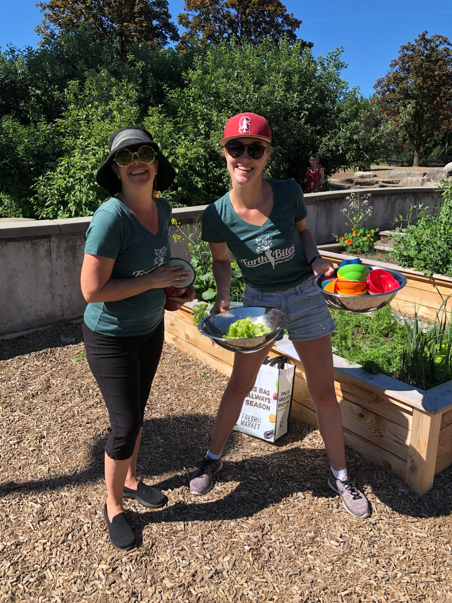 Becca and Britte at Lord Kitchener Elementary with EarthBites - Spring 2019