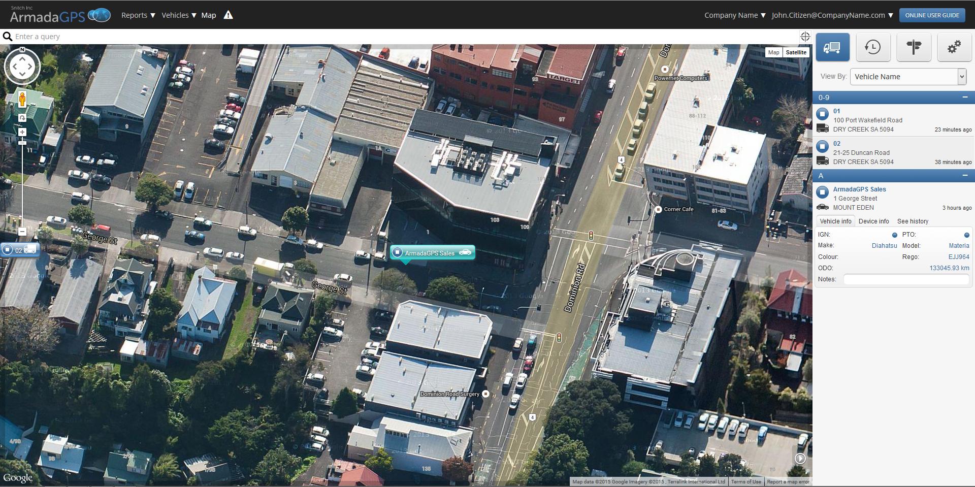 Google Satellite View
