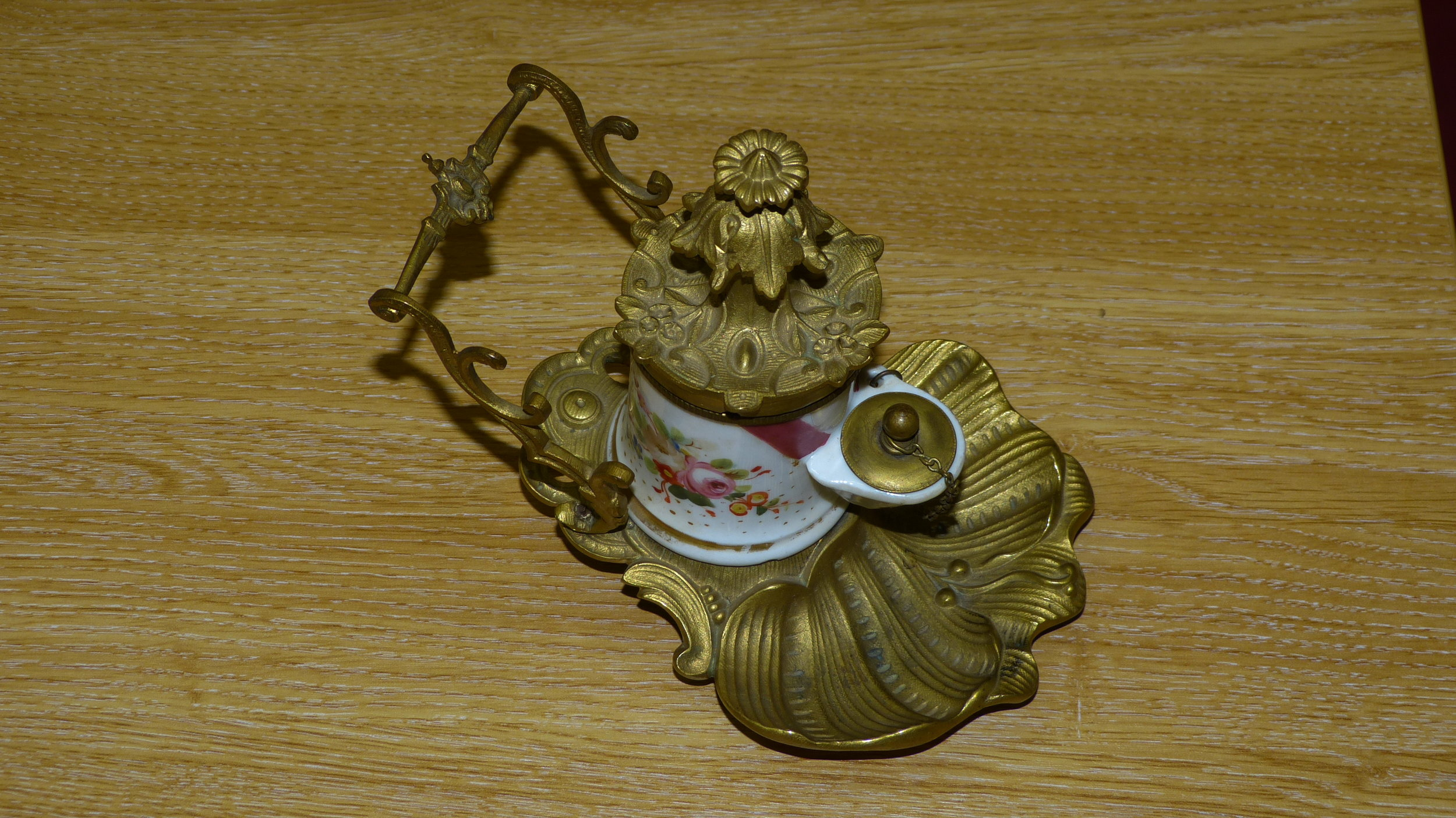 Decorated portable inkwell - courtesy of Gerald Marriner