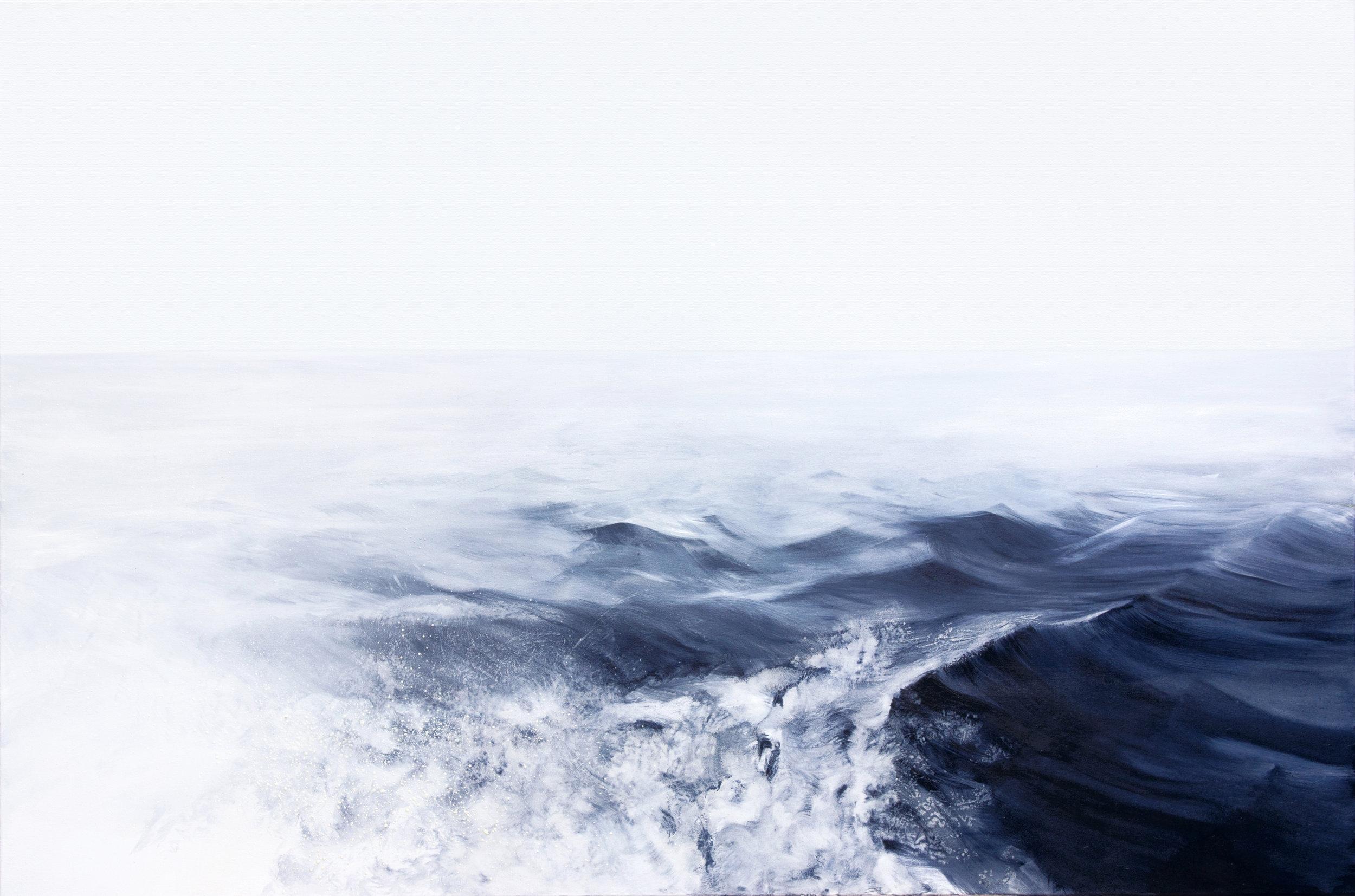Blue Black. Sea, oil on canvas, 180x120cm, 2015