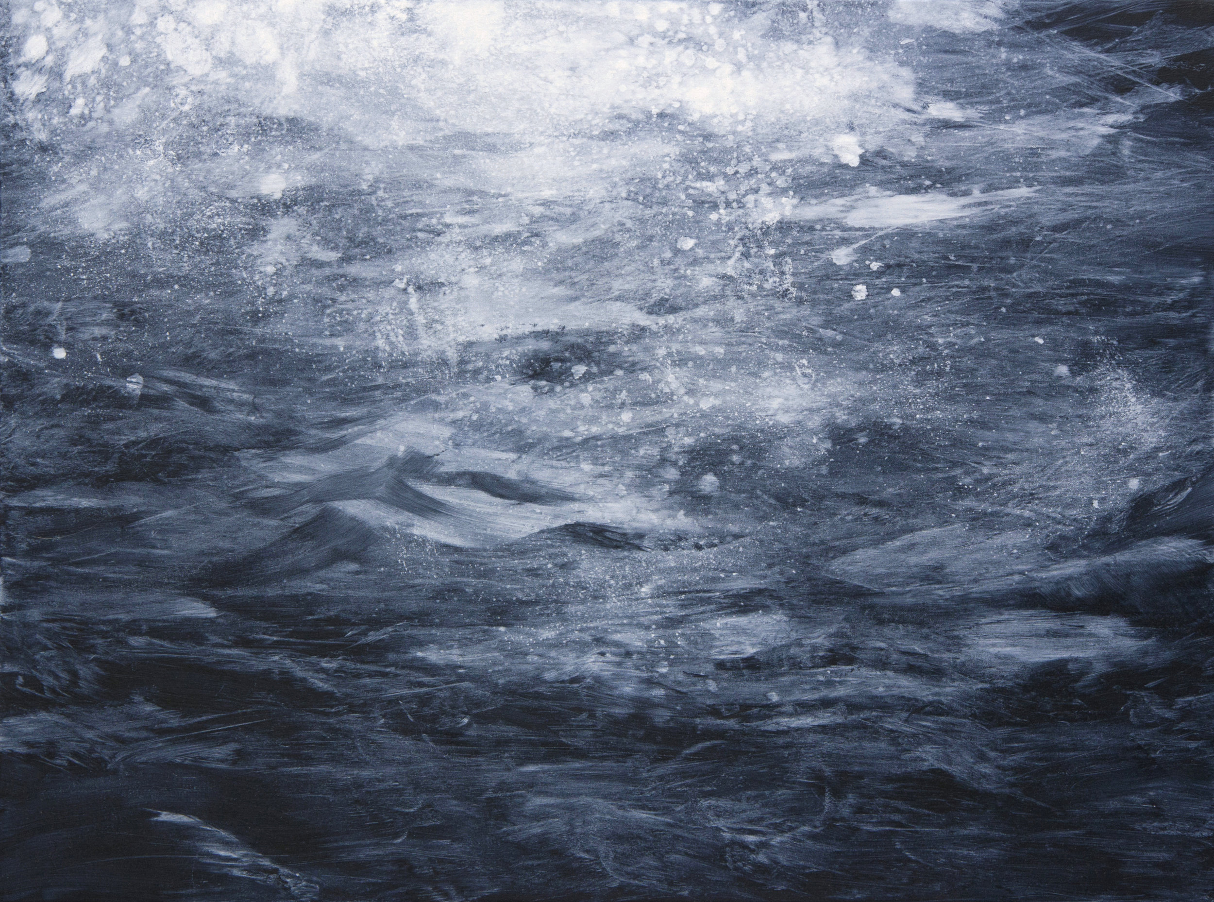 Untitled (Sea I), oil on canvas, 60x80cm, 2015