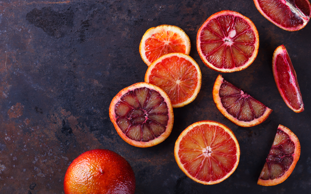 The Australian blood orange season runs from August to October -