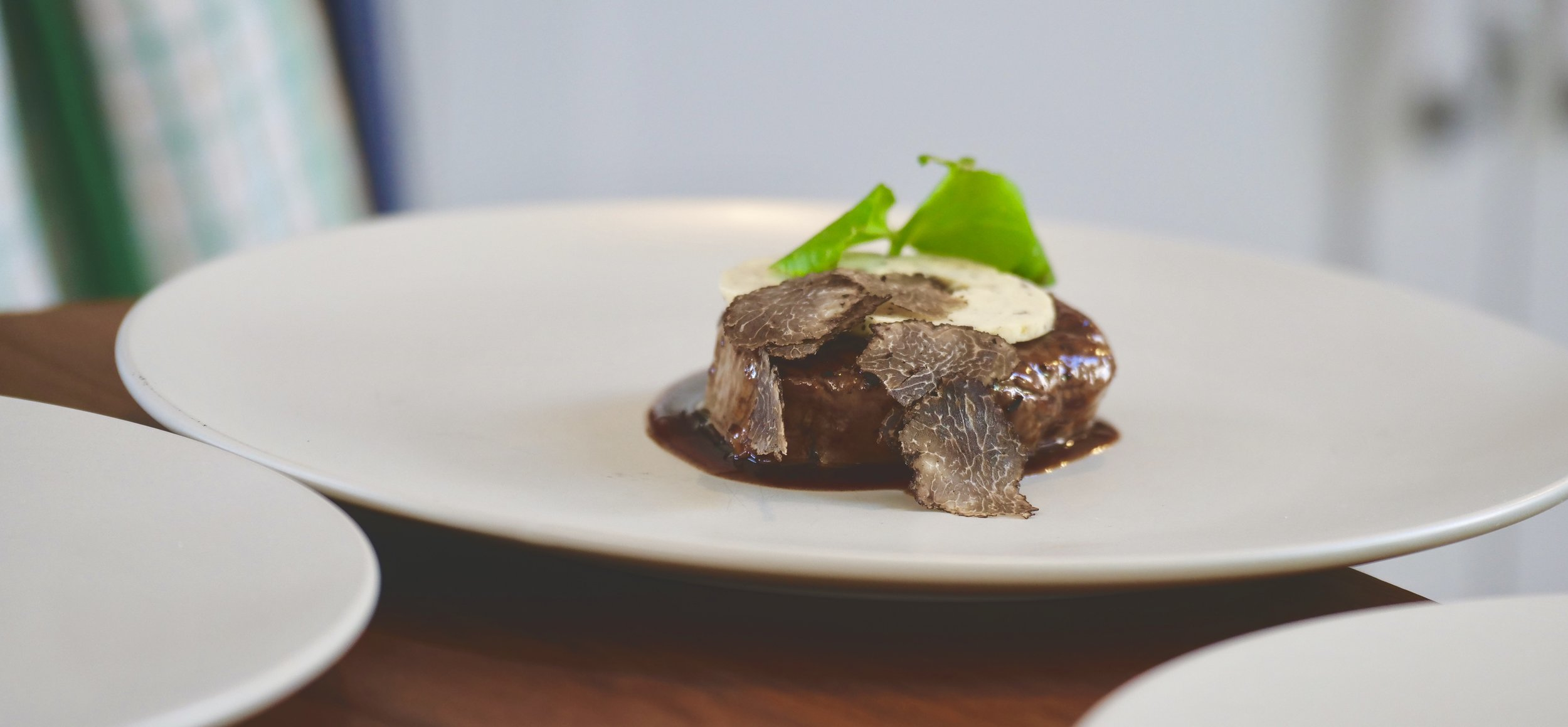 AFTER THE TRUFFLE EDUCATION COMES THE TASTING. BEEF, TRUFFLE AND JUS.