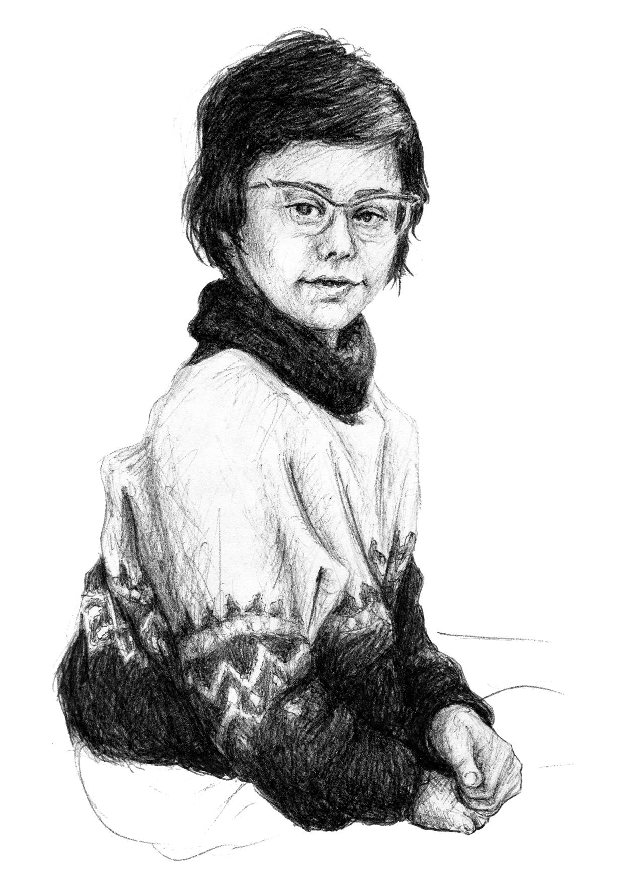 ink portrait girl