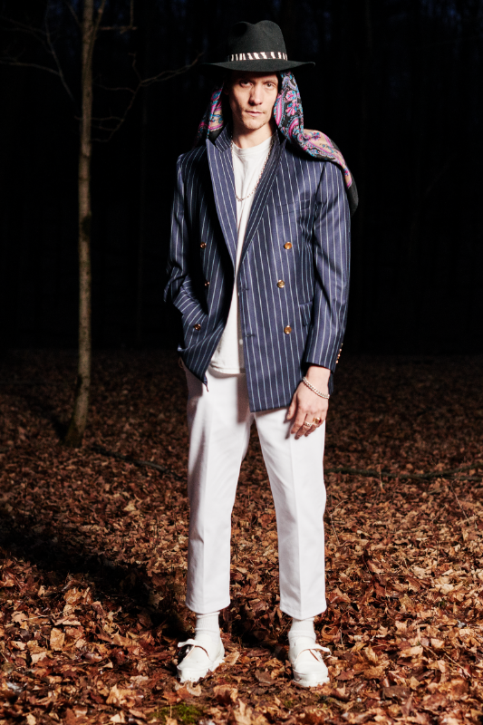 Look #3: Martin Greenfield + PROPER GANG Double Breasted Blazer, Leisure Pant