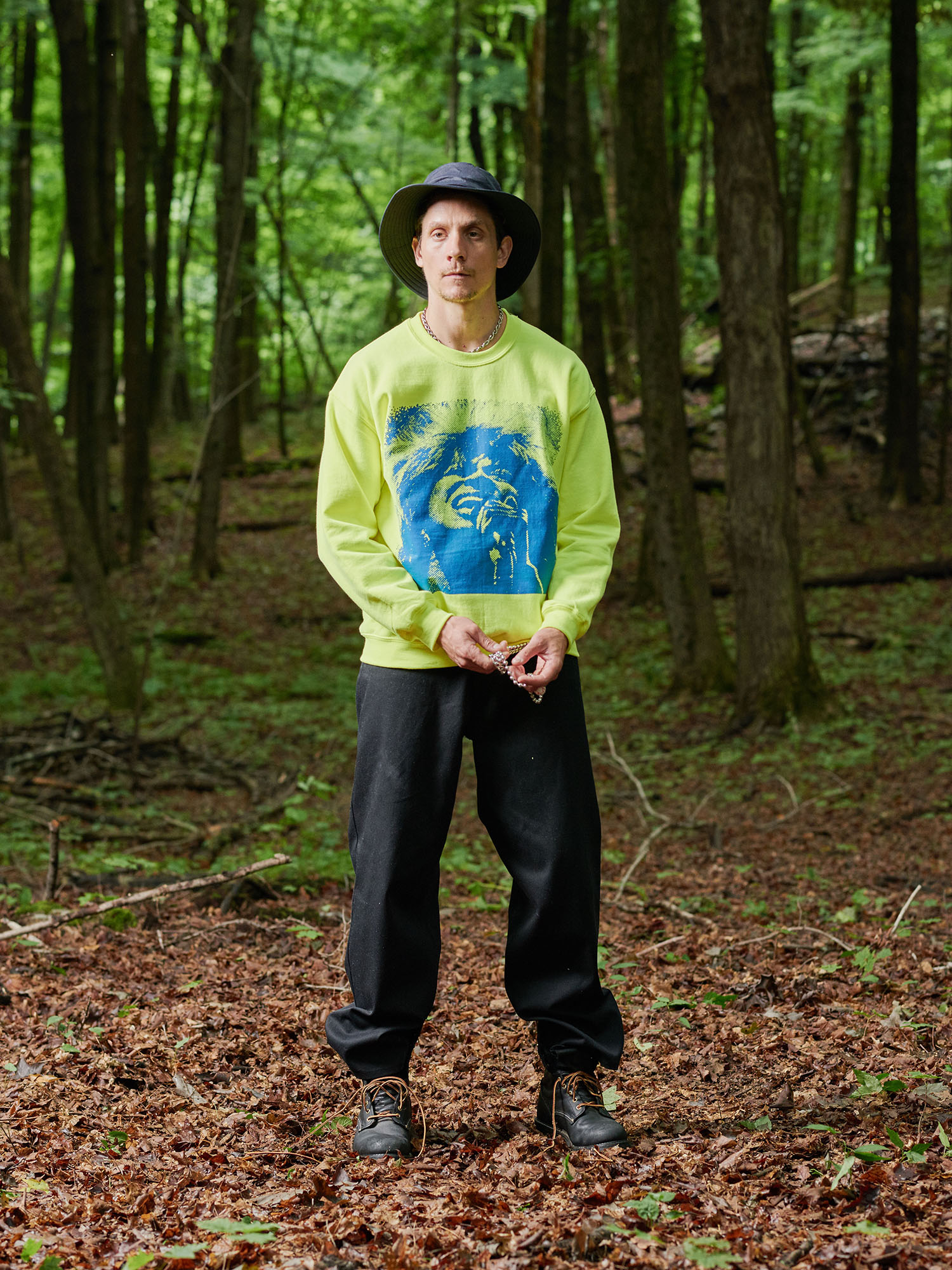 Look #11: Tina Crewneck Sweatshirt, Baggy Fit Jean
