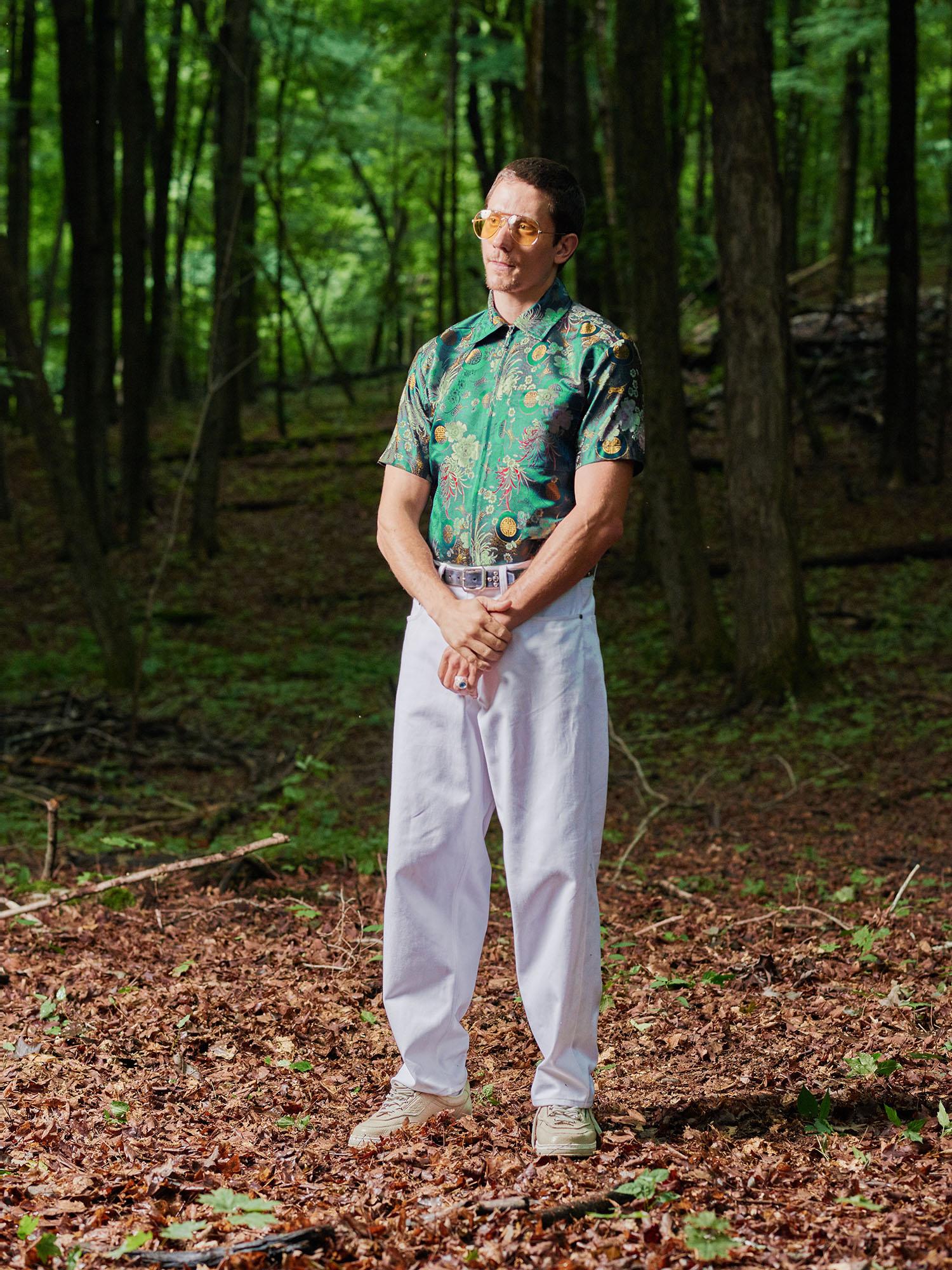Look #5: Brocade Zip Shirt, Baggy Fit Jean