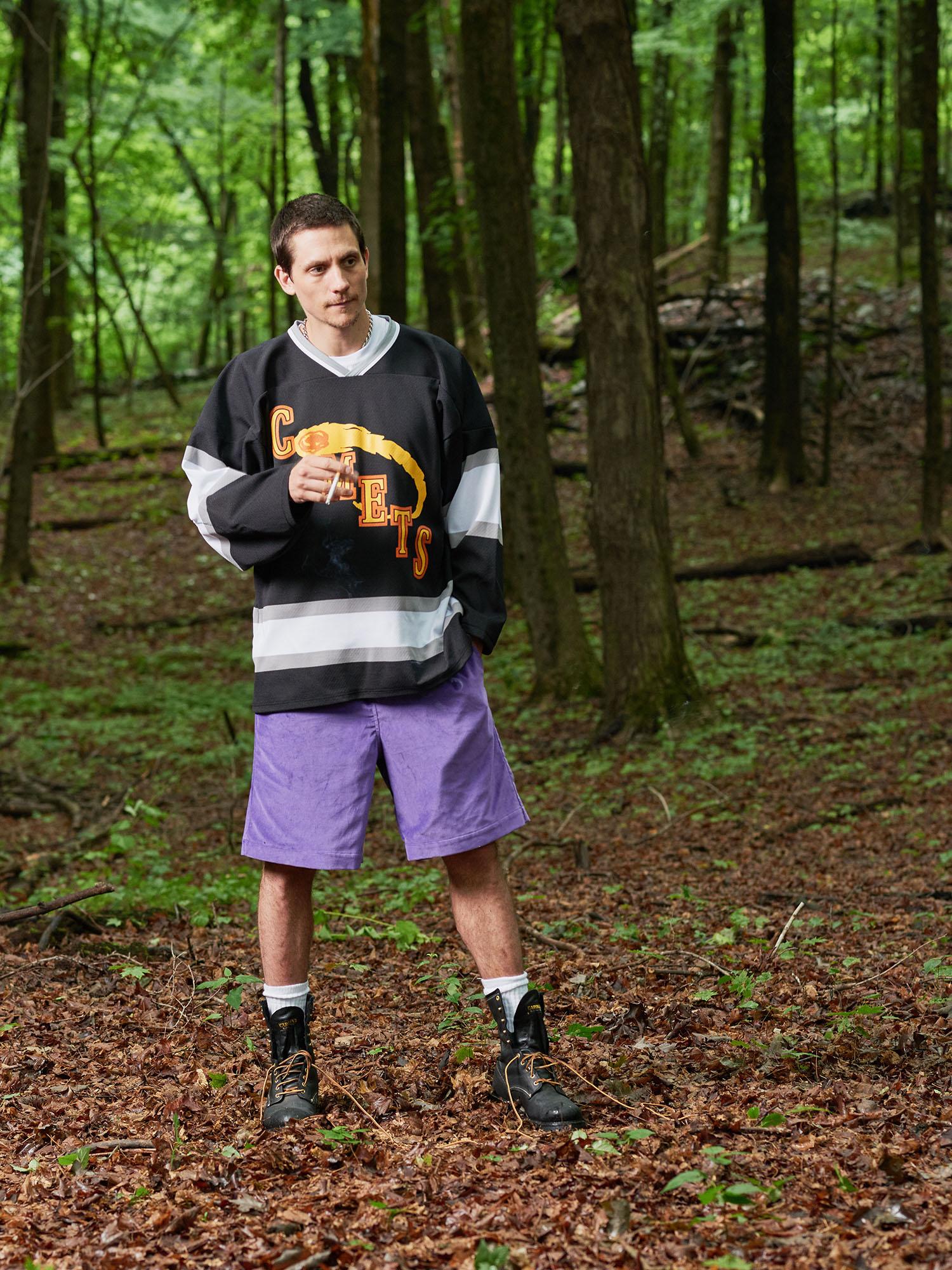 Look #3: Comets Hockey Jersey, Velvet Baggy Short