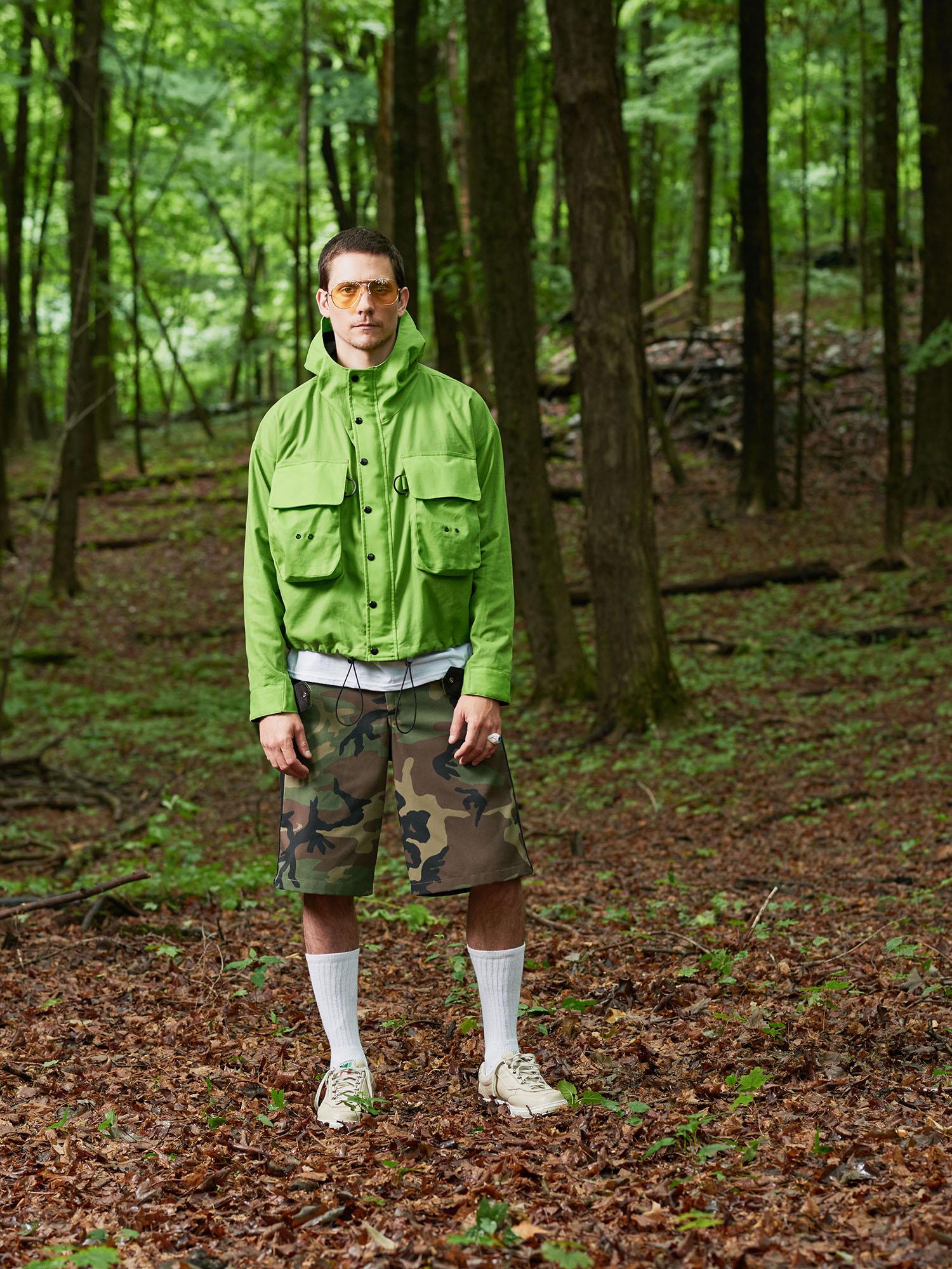 Look #1: Waxed Cotton Wading Jacket, Side Stripe Leisure Short