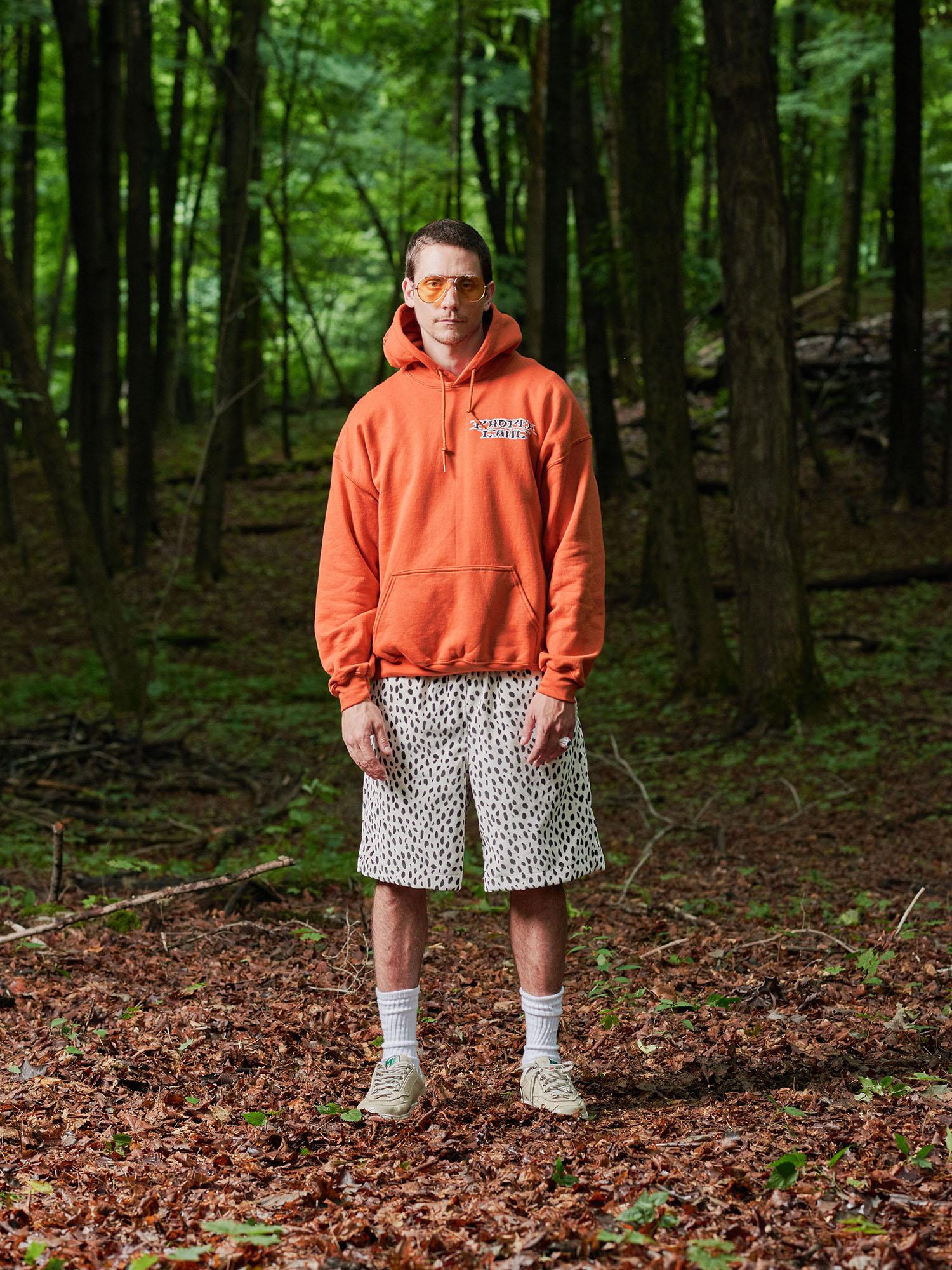 Look #14: Zed Hooded Pullover Sweatshirt, Velvet Baggy Short
