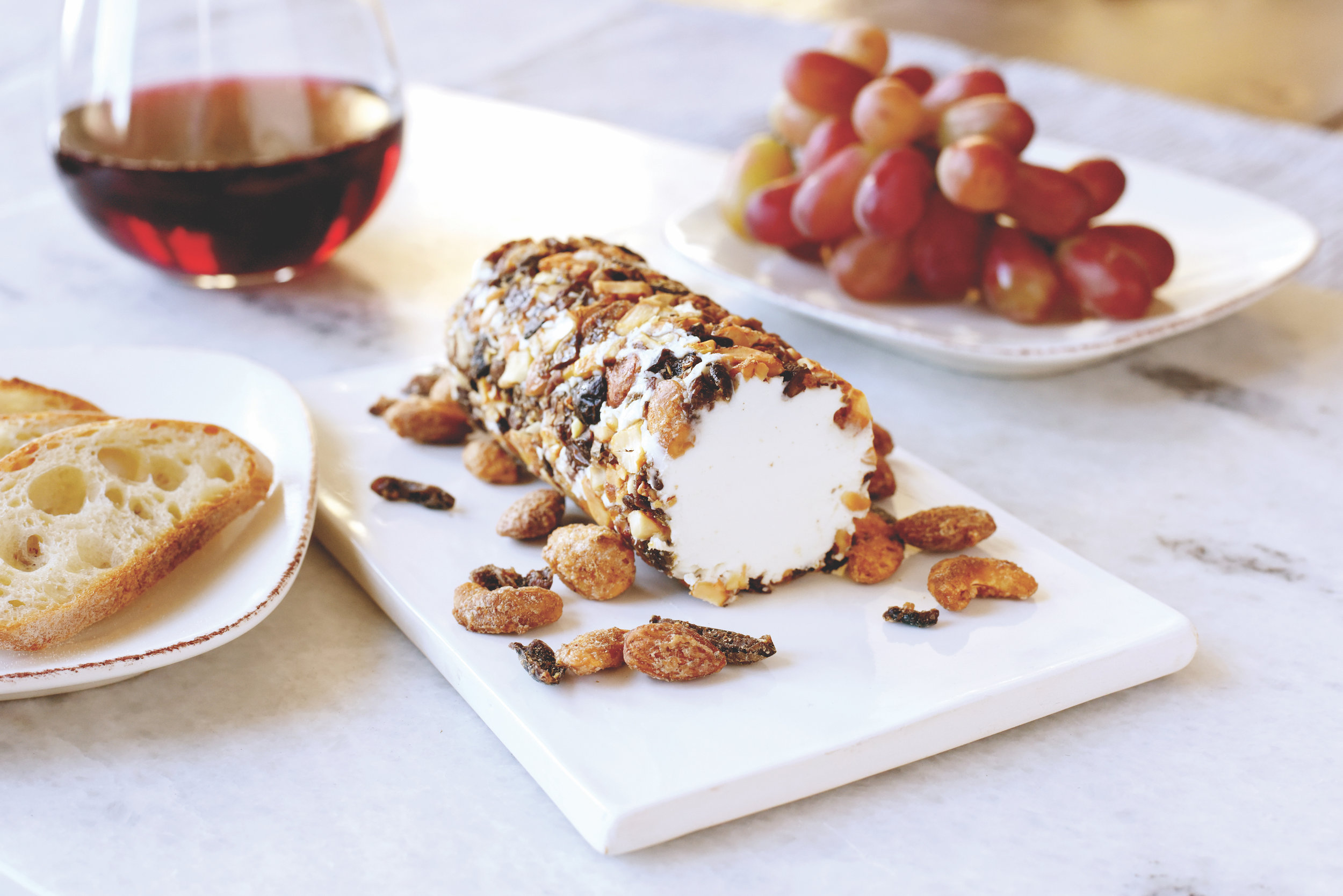 BobbySue's Nuts Over Olives Goat Cheese Log Recipe