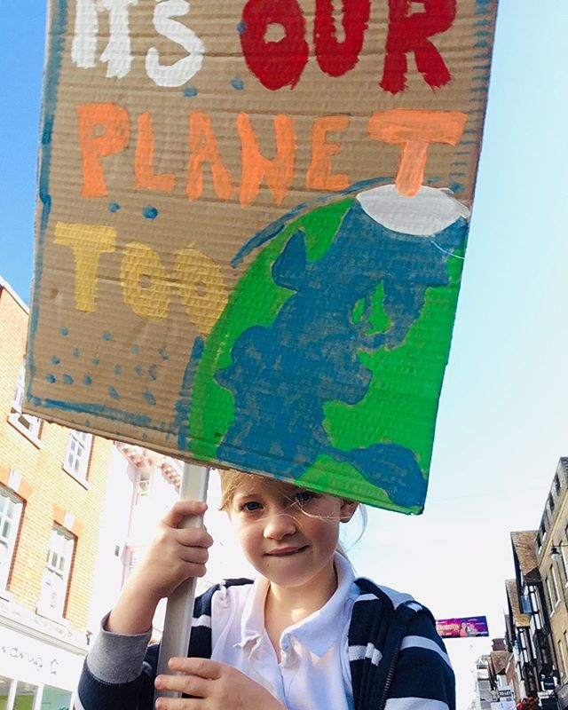 Start young, change is slow but the wheels are turning. #globalclimatestrike #itstheirplanettoo #expectresistance