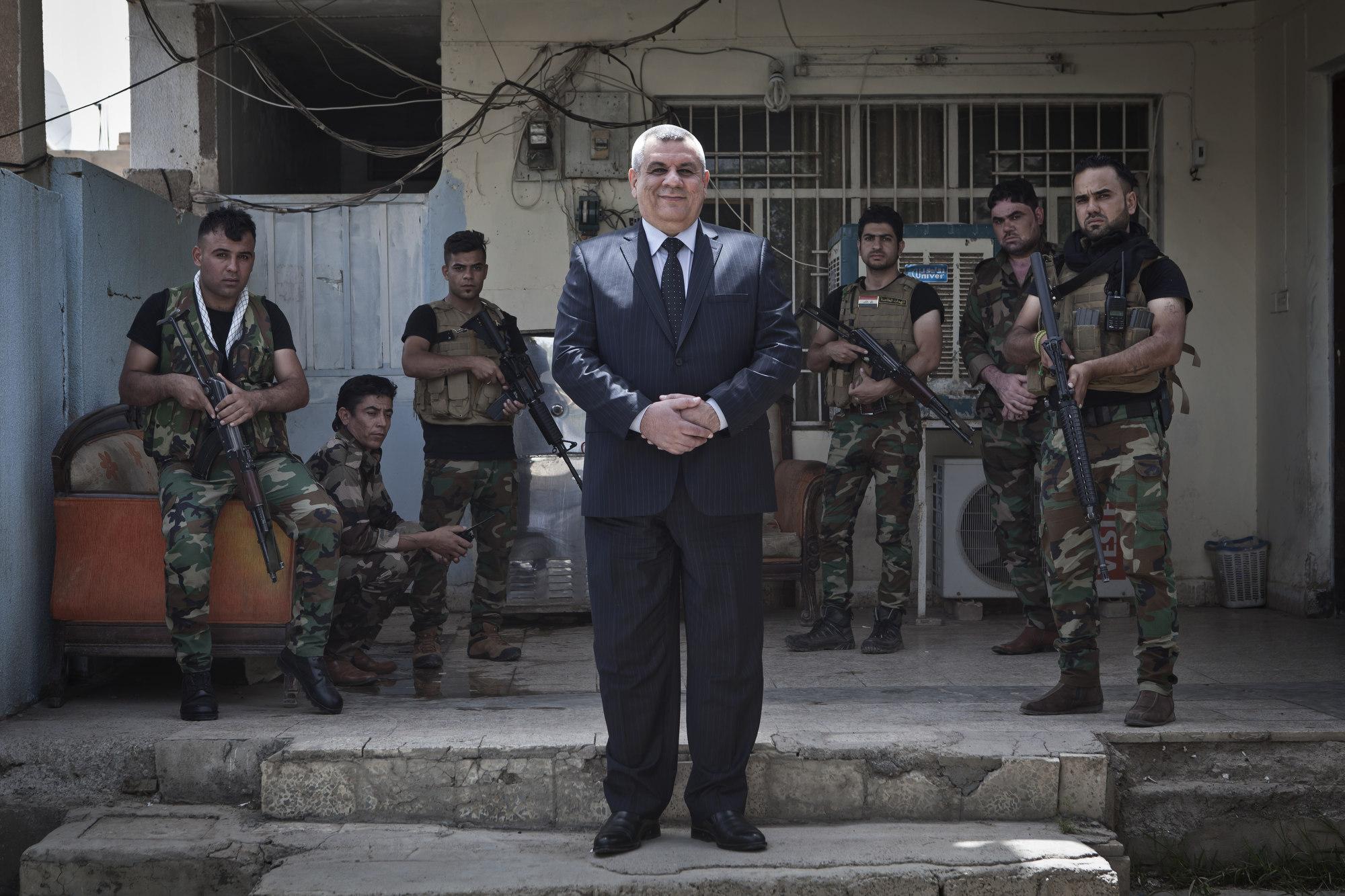Haytham Hashem, a leader of the Iraqi Turkman Front in Tuz Khurmatu.