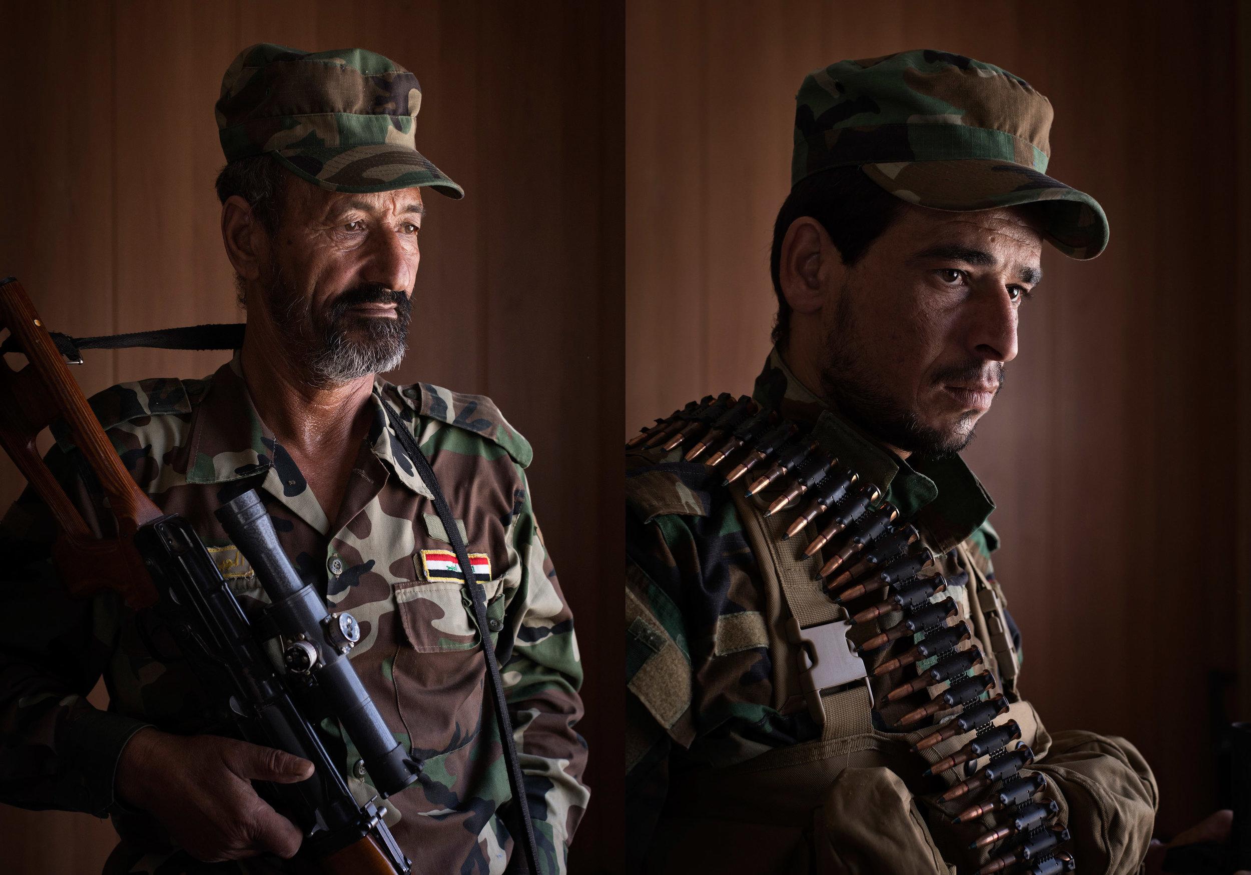 Iraqi militiamen from a peacekeeping force.