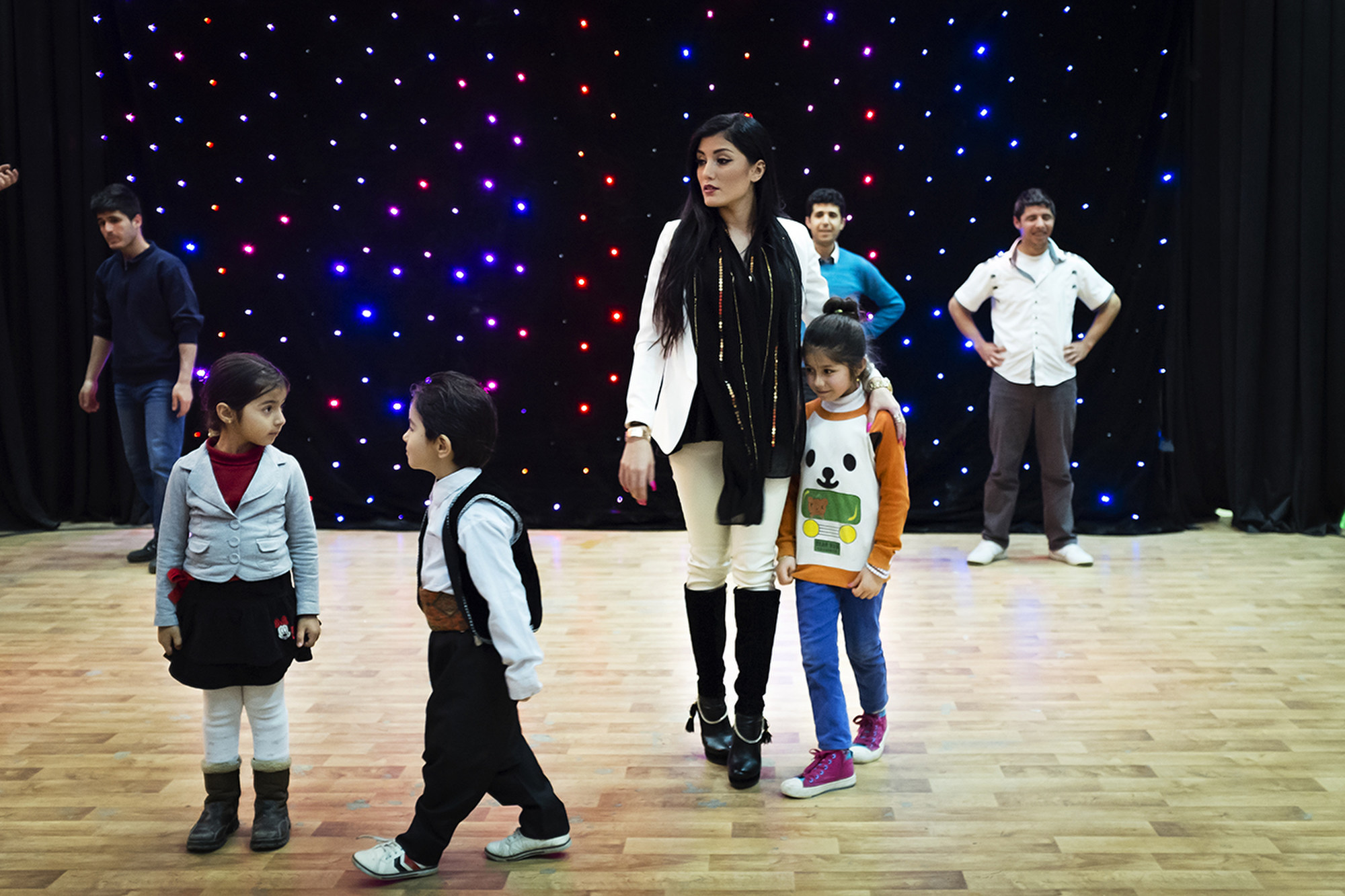 Helly Luv during rehearsals in Erbil.