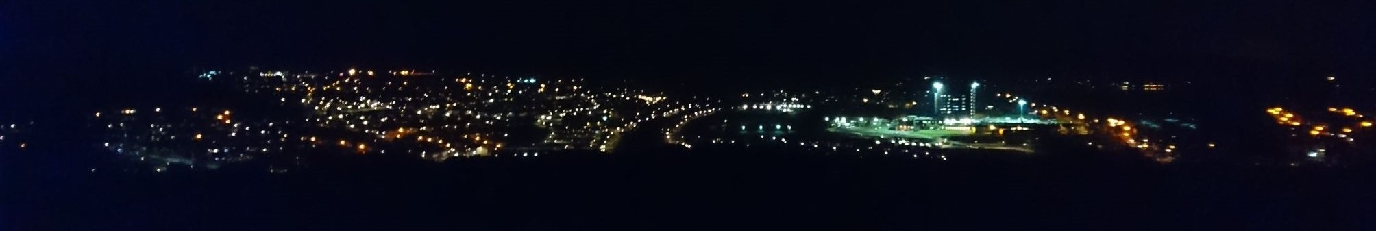 View of the street lights d