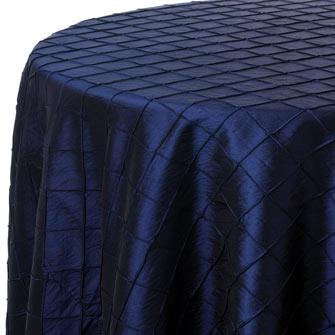 Navy Pintuck Linen