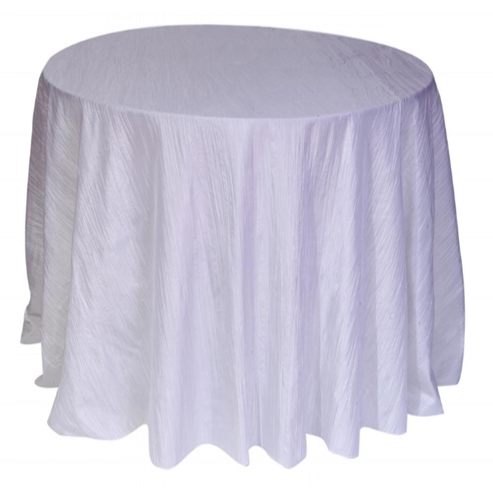 White Crinkle Tafetta Linen