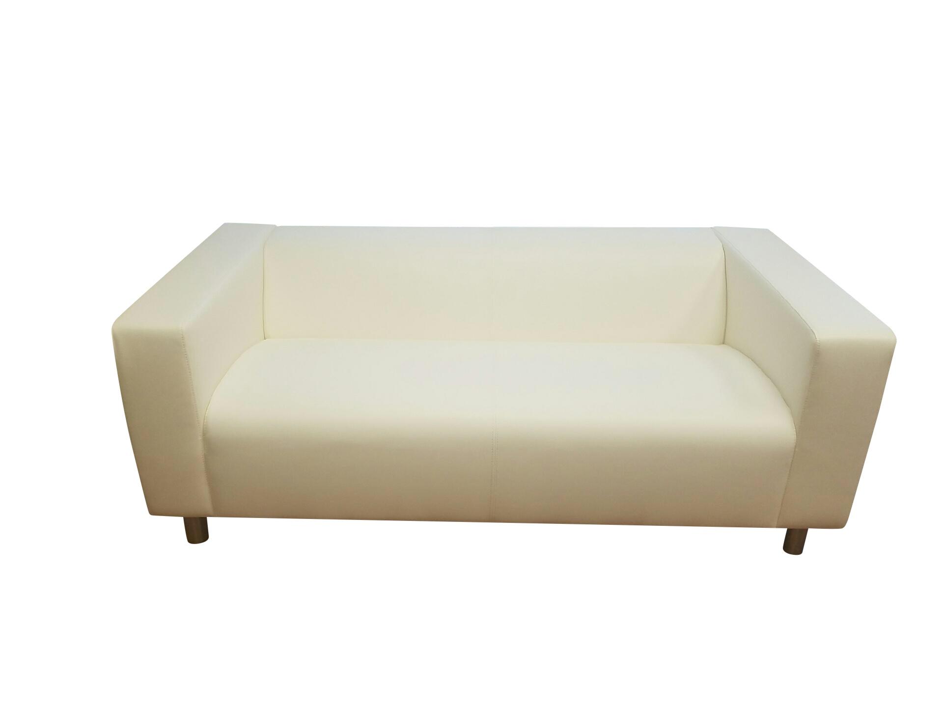Modern White Love Seat
