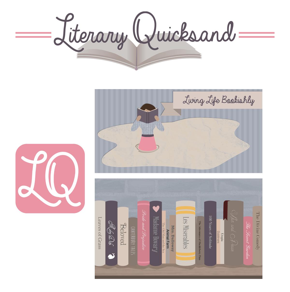 Branding / Logo Design: LiteraryQuicksand.com