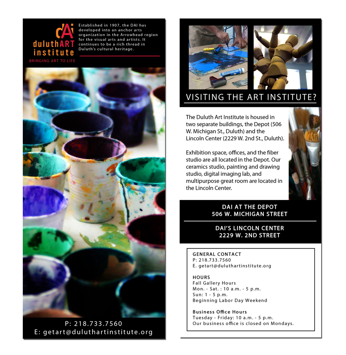 Brochure Design: Duluth Art Institute