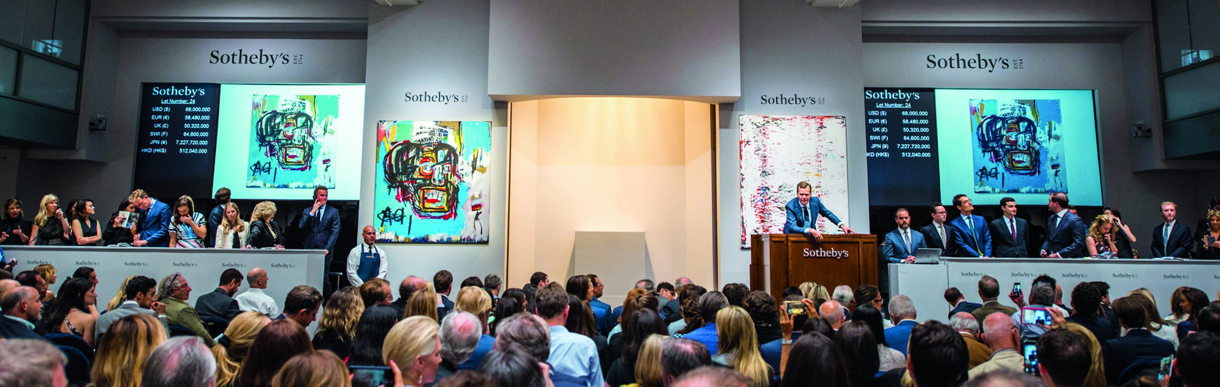Sotheyb's New York, Contemporary Art Evening Auction, 18 May 2017. Courtesy of Sotheby's New York.