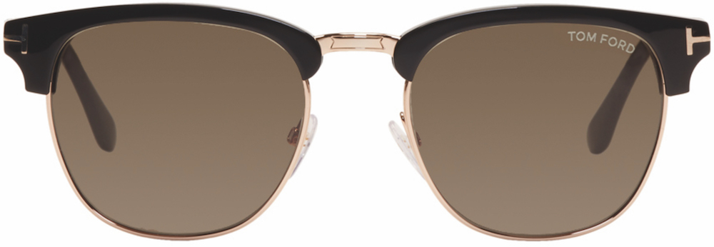TOM FORD - Black & Gold Henry Sunglasses ($415 USD) at SSENSE