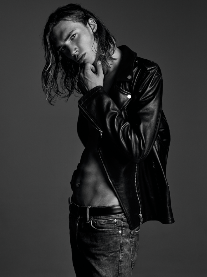 Jacket ($473) LAMARQUE. Jeans (Price Upon Request) LEVI'S. Belt ($620) DOLCE & GABBANA.