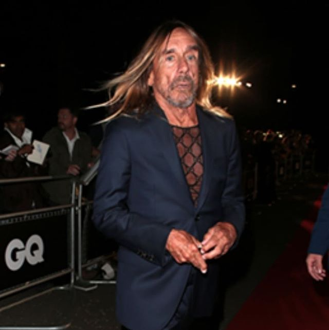 Winner of the Lifetime Achievement Award, Iggy Pop wore a Gucci blue two button notch lapel Monaco suit to GQ Men of the Year Awards at Tate Modern on September 3, 2019 in London.  #iggypop #gucci #london #stylish #lifestyle #achievement #manoftheyear #music #style #dtkmen