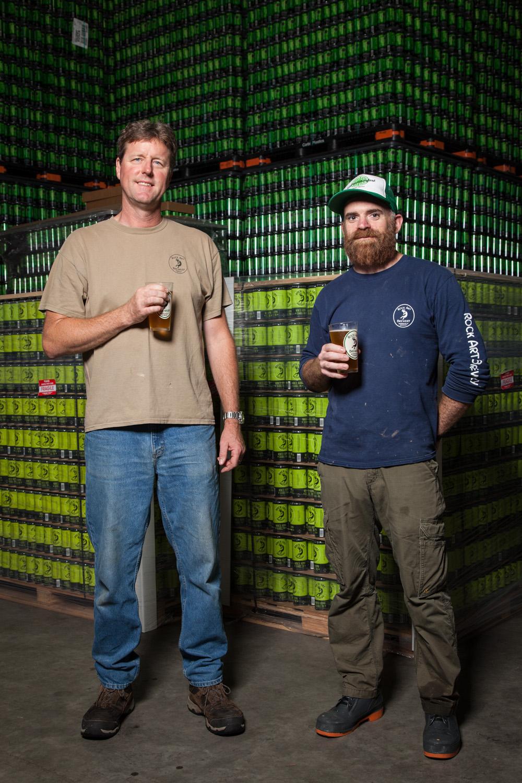 Matt Nadeau, Brewmaster and Chad McGinnis, Head Brewer at Rock Art Brewery Morrisville, VT Established in 1997