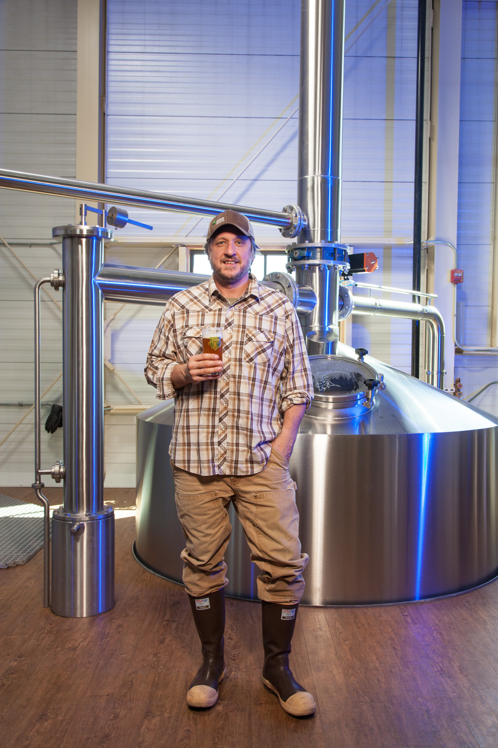 J.P. Williams, Brewmaster von Trapp Brewing Co. Stowe, VT. Established in 2010