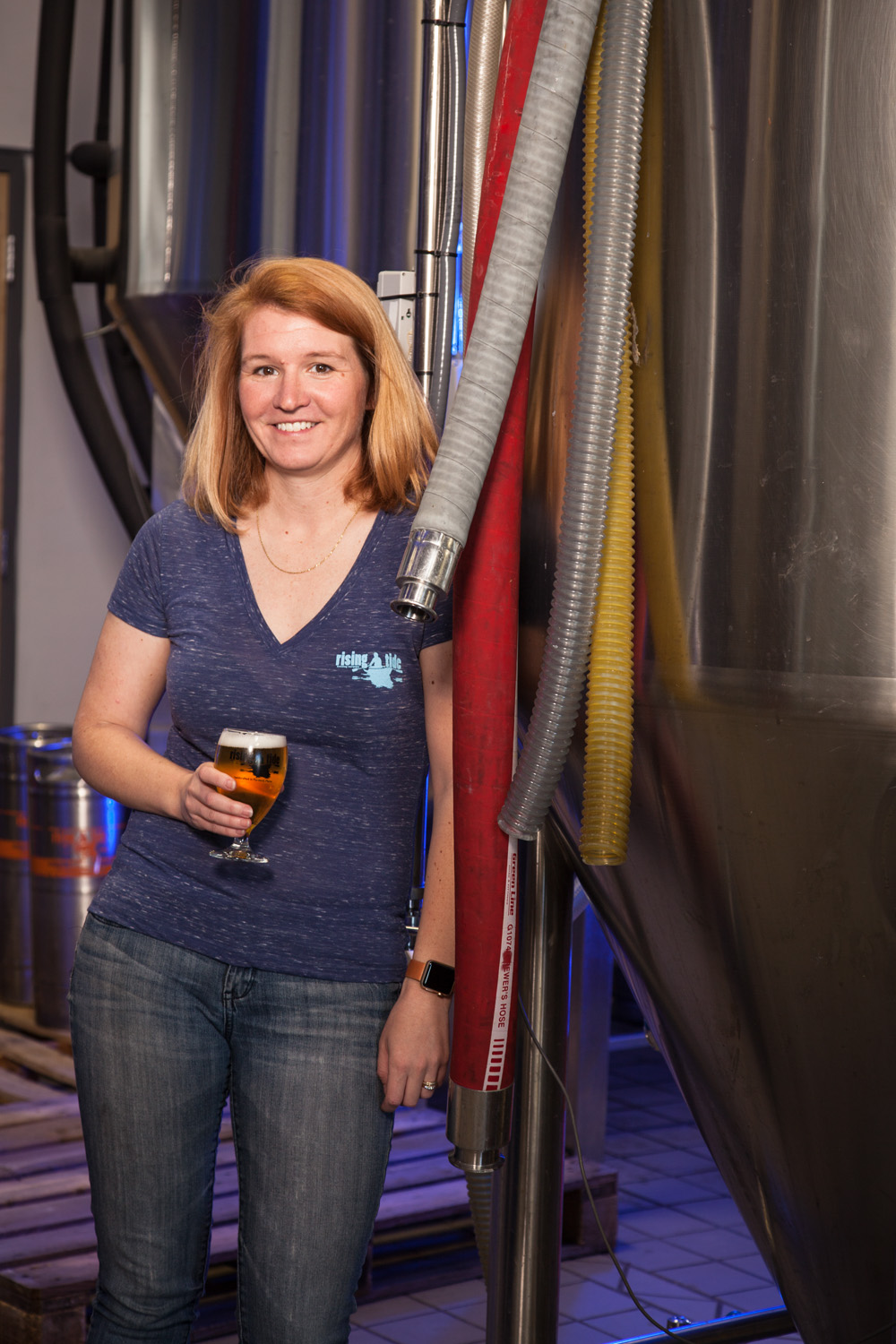 Heather Sanborn, Co-owner of Rising Tide Brewing Co. Portland, ME Established 2010